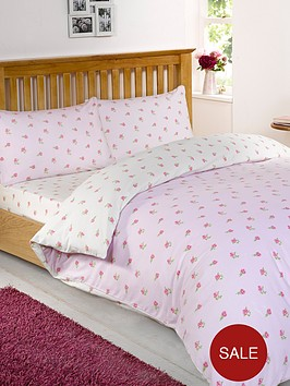 brushed-cotton-floral-fitted-sheet-pink