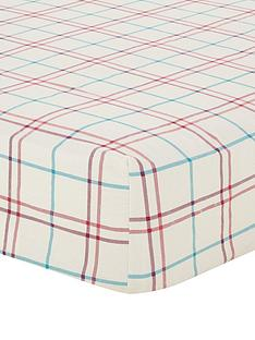 brushed-cotton-check-fitted-sheet-red