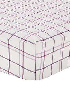 brushed-cotton-check-fitted-sheet-aubergine
