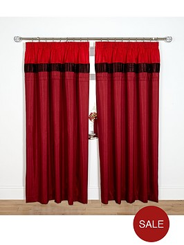 velvet-panel-curtains-red