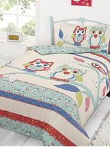 Pretty Owls Duvet Cover Set