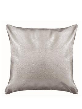 metallic-faux-leather-cushion