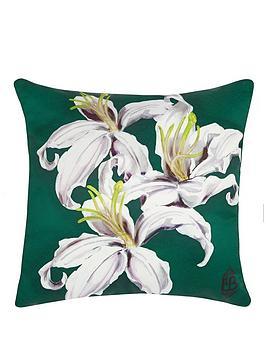laurence-llewelyn-bowen-lily-print-cushion-whitegreen