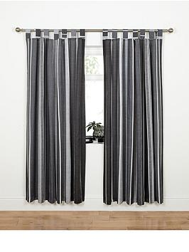 century-spot-and-stripe-tab-top-curtains