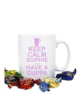 personalised-pink-keep-calm-have-a-cuppa-mug