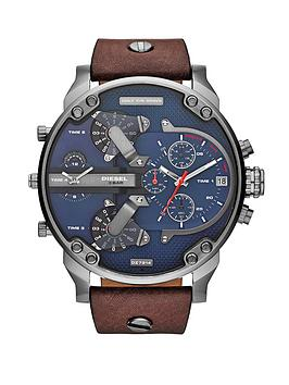 diesel-mr-daddy-gun-metal-leather-strap-mens-watch