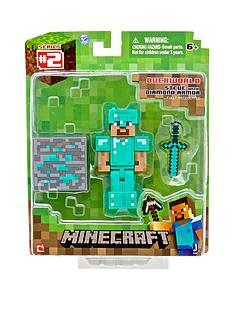 minecraft-3-figures-steve-with-diamond-armour-and-access