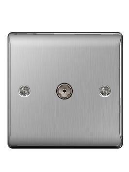 british-general-brushed-steel-1-gang-co-axial-socket