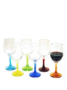 coloured-stem-wine-glasses-ndash-6-piece-set