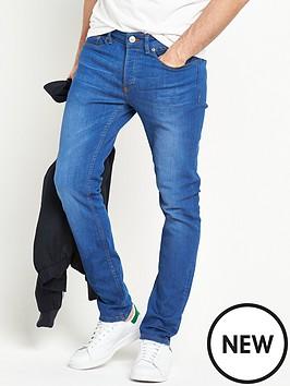 river-island-bright-blue-skinny-fit-stretch-jeans