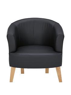 oranbspfauxnbspleather-tub-chair