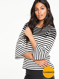 v-by-very-stripe-flare-sleeve-boxy-jumpernbsp