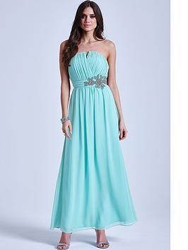 little-mistress-sage-floral-embellished-bandeau-maxi-dress