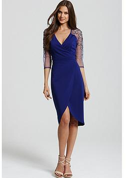 little-mistress-blue-crossover-lace-dress