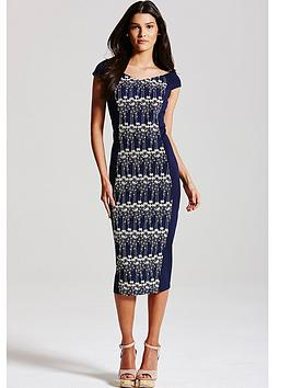 little-mistress-navy-and-cream-floral-embroidered-dress