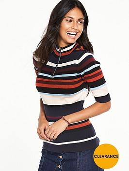 v-by-very-rib-stripe-half-zip-turtle-neck-jumpernbsp