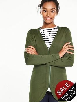 v-by-very-curved-hem-rib-waist-zip-front-cardigan