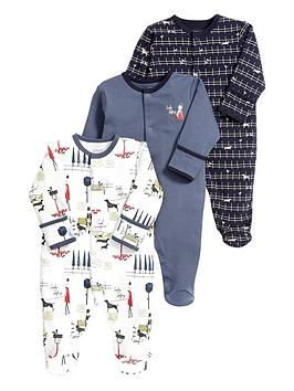 mamas-papas-baby-boys-busy-city-boys-sleepsuitsnbsp3-pack