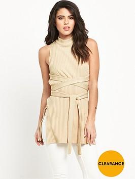 lavish-alice-rib-knit-open-back-wrap-tie-top