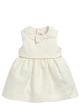 mamas-papas-baby-girls-jacquard-bow-dress
