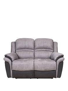 prod1086434946: Petra Fabric and Faux Leather 2 Seater Manual Recliner Sofa