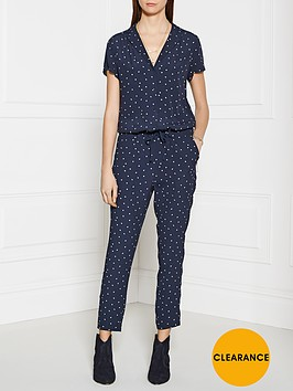 maison-scotch-star-print-jumpsuit-navy