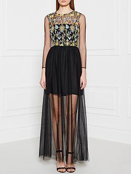 pinko-bretagna-maxi-dress-black