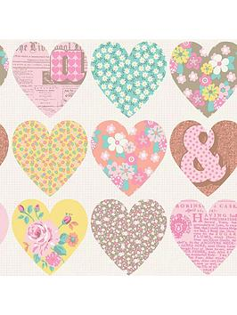 arthouse-patchwork-heart-pastel-wallpaper