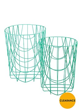 set-of-2-round-wire-baskets-no-handles-spearmint