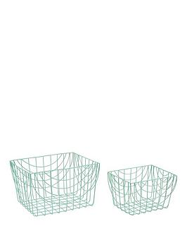 set-of-2-wire-long-baskets-spearmint