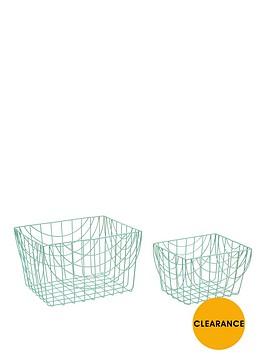 set-of-2-wire-long-baskets-spearmint