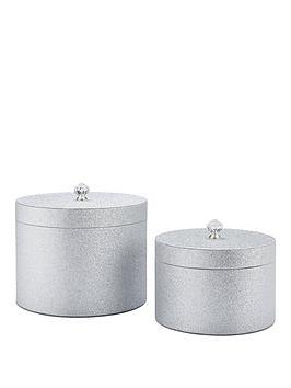 glitter-set-of-2-round-lidded-boxes-silver