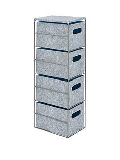 narrow-4-drawer-felt-unit-with-grey-metal-frame