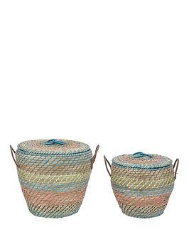 set-of-2-lidded-straw-baskets