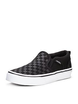 vans-asher-slip-on-checkerboard-children