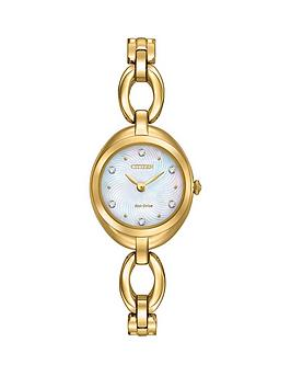 citizen-citizen-eco-drive-silhouette-crystal-mother-of-pearl-dial-gold-tone-stainless-steel-bracelet-ladies