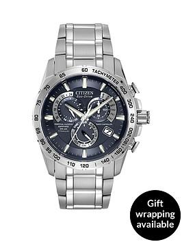 citizen-citizen-eco-drive-blue-dial-radio-controlled-perpetual-calendar-alarm-titanium-bracelet-mens-watch
