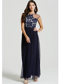 little-mistress-little-mistress-navy-crochet-and-sheer-maxi-dress