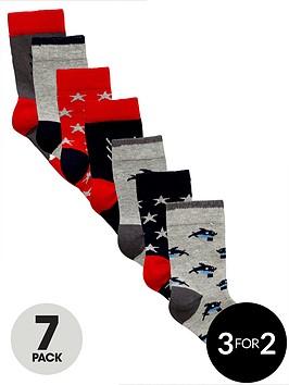 mini-v-by-very-boys-hungry-shark-socks-7-pack