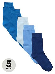 mini-v-by-very-boys-favourites-blue-socks-5-pack