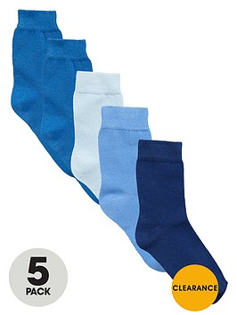 mini-v-by-very-boys-favourites-blue-socks-5-pack