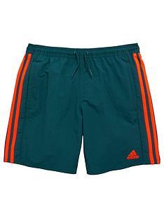 adidas-youth-boys-three-stripes-swim-shorts