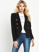 DOUBLE BREASTED CROP JACKET
