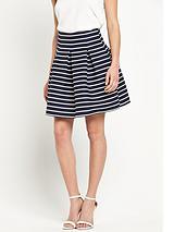 Striped Full Mini Skirt