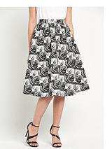 Jacquard Full Midi Skirt