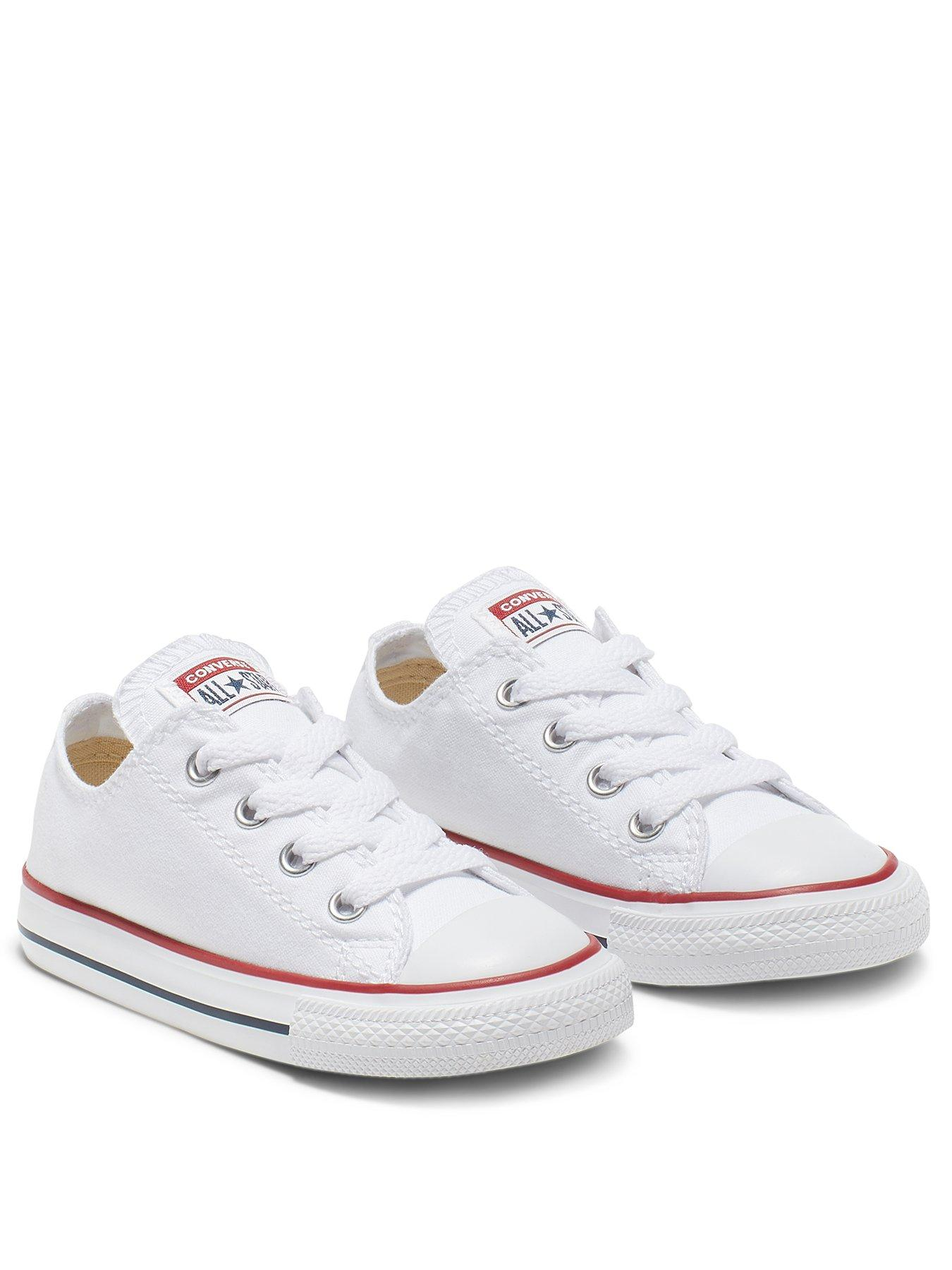 girls white converse size 3