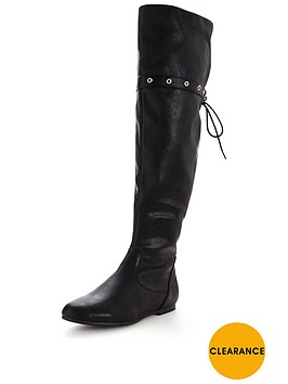 v-by-very-earl-knee-high-faux-leather-flat-bootnbsp