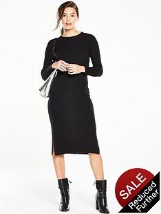 v-by-very-ribbed-zip-back-midi-bodycon-knit-dressnbsp