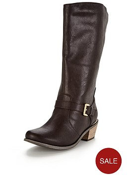 so-fabulous-clifton-western-detail-gold-trim-calf-boot-brown-wide-fit