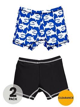 mini-v-by-very-boys-cartoon-shark-swim-trunks-2-pack